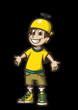 Flupje Mazzel, de officiële mascotte van de Speelclubs.